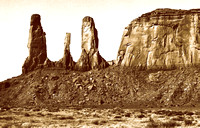 Monument Valley High Desert Chaparral  The Three Sisters