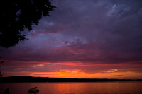 Maine Lake Sunsets Naples Maine-